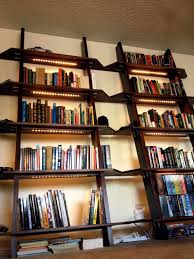 Bookcase Lights Leaning Bookshelves With Led Lighting 5 Steps With Pictures
