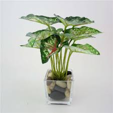 home decor artificial plants online get cheap artificial taro leaves aliexpress com alibaba