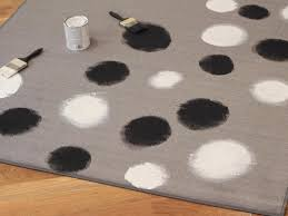 Dot Rug How To Paint Black And White Dots On A Rug Hgtv