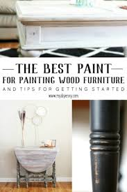 the secret to picking the best paint for wood furniture