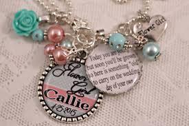 Wedding Gift Necklace Personalized Flowergirl Gift Personalized Flower Gift