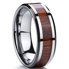 tungsten rings from images Max tungsten carbide wood inlay 8mm tungsten rings jpg
