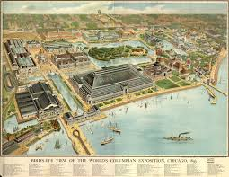 Chicago Tolls Map by The World U0027s Columbian Exposition Chicago 1893