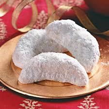 vanilla crescent cookies recipe taste of home