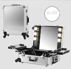 lighting for makeup artists silver makeup artist box with lights station portable studio