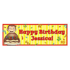 curious george birthday the official pbs kids shop curious george happy birthday banner