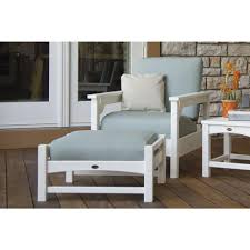 polywood club 3 piece plastic patio deep seating set with