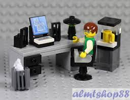 Lego Office Lego Office Worker Minifigure W Desk Water Cooler Coffe Maker