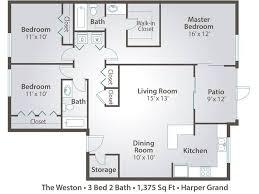 3 bedroom 2 bathroom 3 bedroom apartment floor plans pricing grand orlando fl