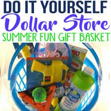 Summer Gift Basket Diy Burlap Baskets Using Plastic Dollar Store Bins Simple Made