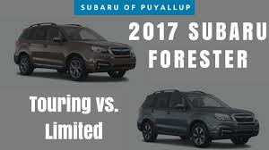 subaru forester touring 2017 2017 subaru forester touring vs limited comparison youtube