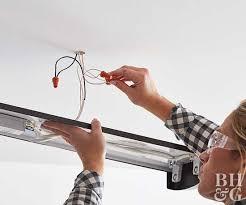 How To Install A Fluorescent Light Fixture How To Install Fluorescent Lights