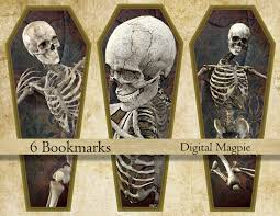 halloween printable bookmarks halloween bookmark instant download printable skeleton bookmarks