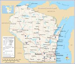 Wiscons by Reference Map Of Wisconsin Usa Nations Online Project