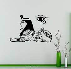 Ancient Egyptian Home Decor Aliexpress Com Buy Egyptian Gods Wall Decal Sphinx Sacred Symbol