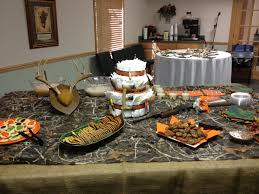 hunting camo theme baby shower party shower ideas pinterest