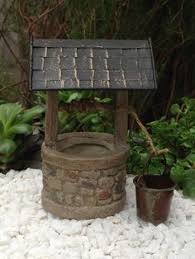Wishing Well Garden Decor Miniature Dollhouse Fairy Garden Accessories Zen Praying