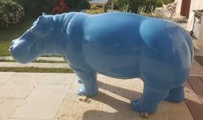 animaux resine jardin animaux en résine hippopotames et rhinocéros homeparc fr