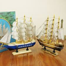wood crafts gifts mediterranean style nautical sailing ship desk
