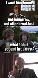 Second Breakfast Meme - i don t think he knows about second breakfast pip funny
