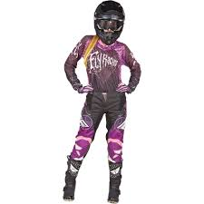 youth motocross jerseys fly racing 2015 girls youth kinetic jersey race pant package black