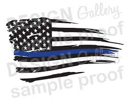 Iron On American Flag American Flag Thin Blue Line Distressed Rippled Wave