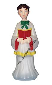 choir boy and outdoor decorations by general foam