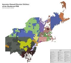 Map Of North East Usa Investor Owned Electric Utilities Of The Northeast Usa Oc