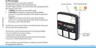Garage Door Sensor Blinking by Aldps Garage Door Position Sensor User Manual The Genie Company A