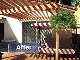How To Build An Awning Over A Deck Building A Pergola Over A Deck Video Diy