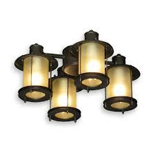 3 Light Ceiling Fan Light Kit by 450 Rustic Mission Styled Outdoor Ceiling Fan Light Kit 3 Finish