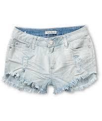light wash denim shorts almost famous light wash destroyed denim shorts zumiez