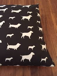 Chocolate Cushion Covers Brown Silhouette Plush Pups