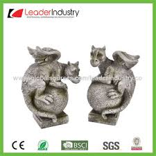 Statue For Garden Decor China New Garden Gargoyle On Ball Ornament Resin Dragon Statue