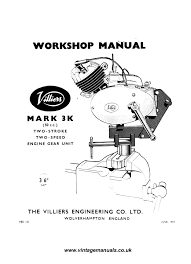 villiers mk3 f motorcycle engine workshop service and repair