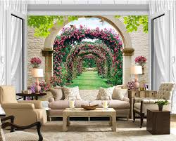 online get cheap photo window aliexpress com alibaba group photo wallpaper custom 3d stereoscope rose window murals 3d wall murals wallpaper decor home china