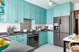 blue kitchen cabinets toronto blue kitchen cabinets with vintage hex floor tiles