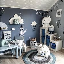 chambre fille grise originale garcon complete bas et bleu decoration deco gris bleue