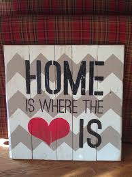 Home Is Where The Heart Is Pallet Board Sign Home Is Where The Heart Is Wood Decor