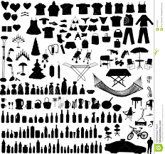 vector household items set stock images image 5477034