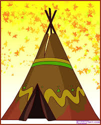 how to draw a teepee step by step buildings landmarks u0026 places