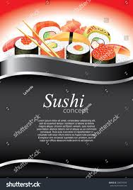 qui cuisine sushi restaurant vertical background เวกเตอร สต อก 208759594