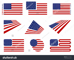 Flags American Vector Image American Flag Icon Set Stock Vector 547153948