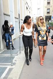 ciara exhibits her endless legs in scanty t shirt dress alongside