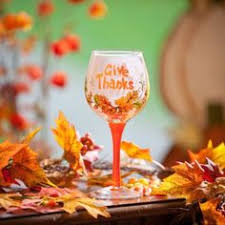 thankful thanksgiving glitter wine glass by glittersgalore on etsy