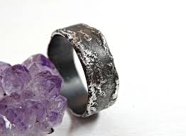 unique mens rings buy a crafted unique silver ring molten surface cool mens