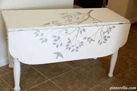 Diy Drop Leaf Table Stenciled Drop Leaf Table Hometalk