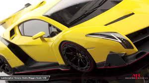 Lamborghini Veneno Matte Black - mr collection models lamborghini veneno giallo maggio 1 18 youtube