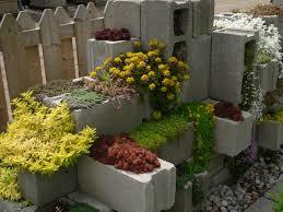 inspirations decorative cinder block concrete block planter