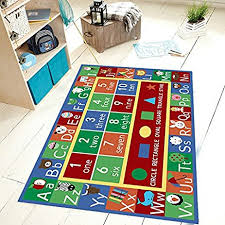 Abc Area Rugs Rug Abc Alphabet Numbers And Shapes Educational